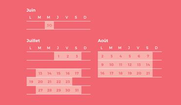 calendrier FNOC 2021